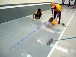 cat lantai epoxy untuk showroom dan bengkel