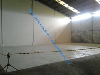 aplikasi epoxy lantai untuk gudang pabrik